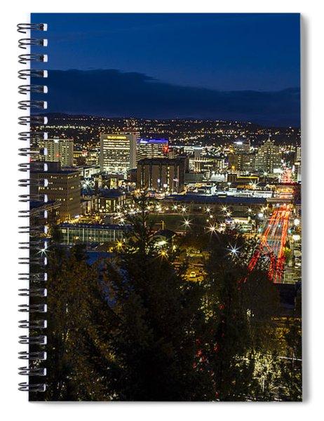 Cliff Drive Rush Hour - Spokane  Spiral Notebook
