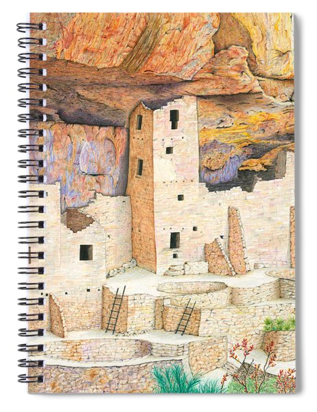 Cliff Dwellings Of Old Spiral Notebook