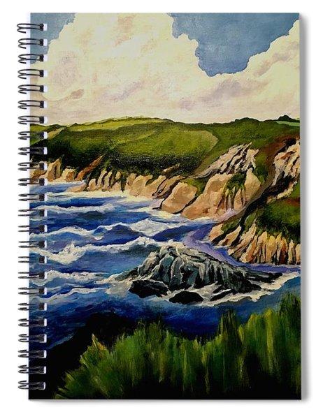 Cliffs And Sea Spiral Notebook
