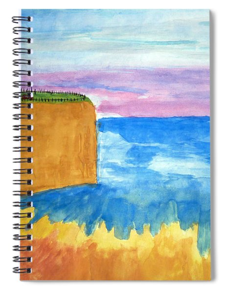 Cliffs And Sea Spiral Notebook