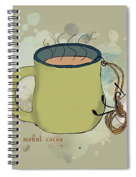 Climbing Mt Cocoa Illustrated Spiral Notebook