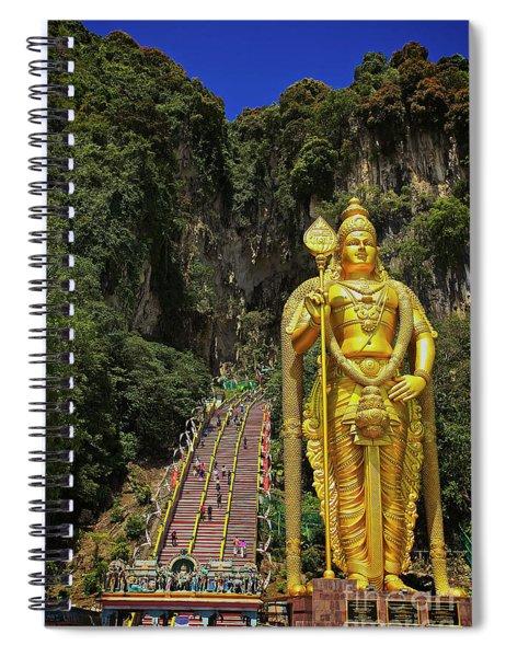 Climbing The Batu Caves In Gombak, Selangor, Malaysia Spiral Notebook