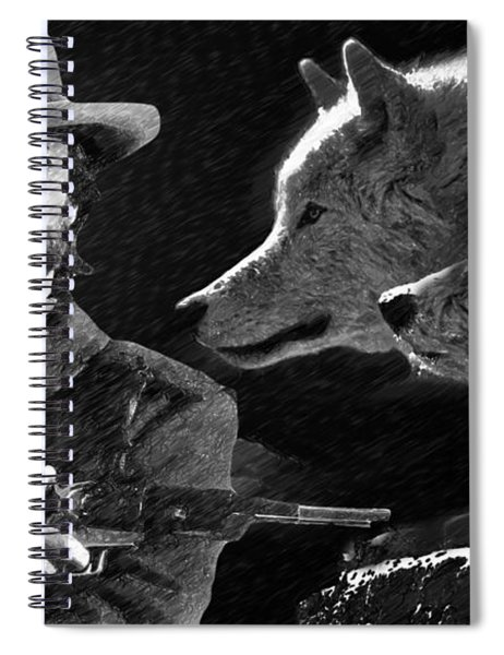 Clint Eastwood With Wolves Spiral Notebook