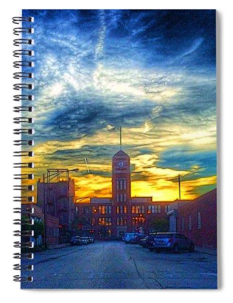 Clocktower Sunset Spiral Notebook