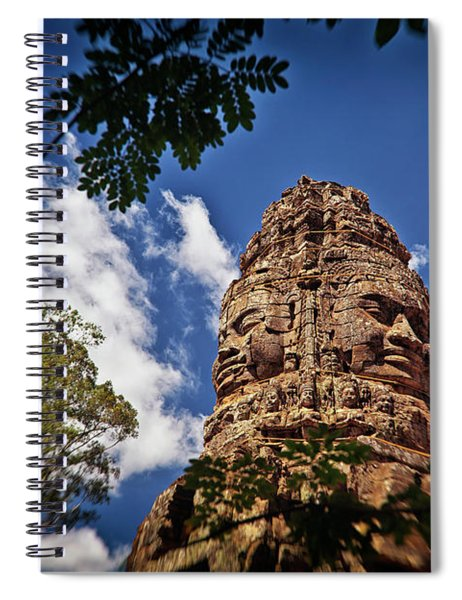 Cloning Out Tourists At Ta Prohm Temple, Angkor Archaeological Park, Siem Reap Province, Cambodia Spiral Notebook
