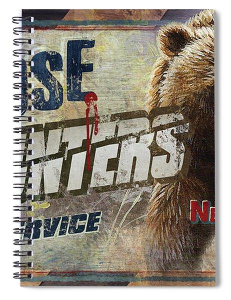 Close Encounters Bear Spiral Notebook