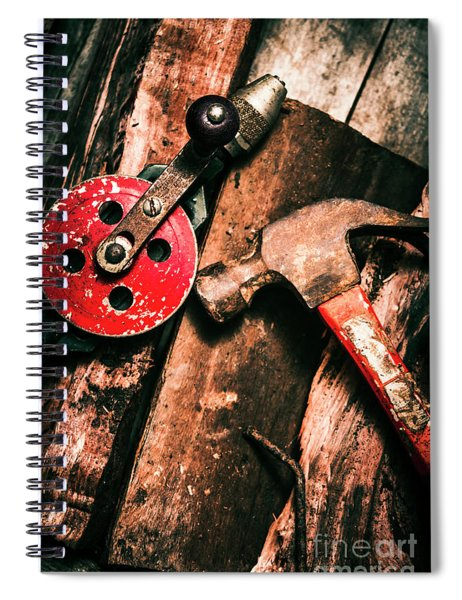 Close Up Of Old Tools Spiral Notebook