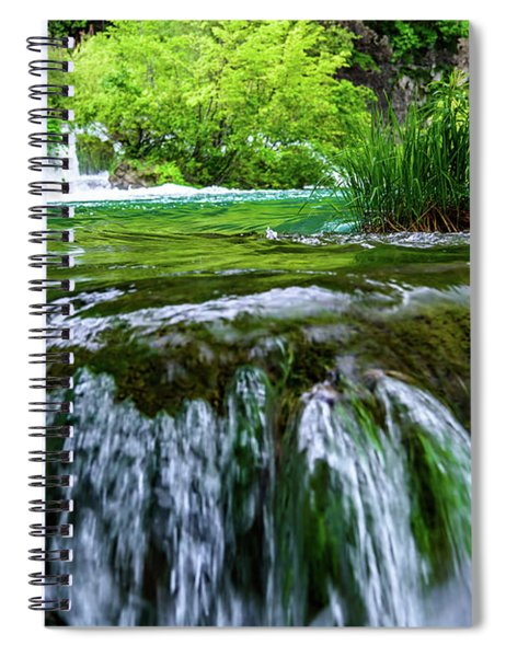 Close Up Waterfalls - Plitvice Lakes National Park, Croatia Spiral Notebook
