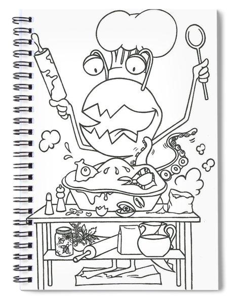 Closet Monster Baking Spiral Notebook