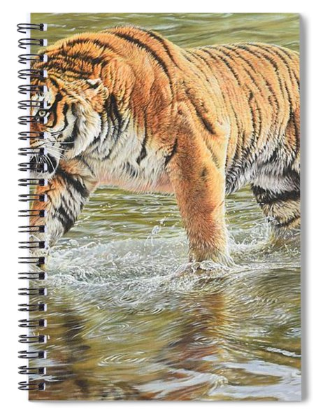 Spiral Notebook featuring the photograph Closing In by Alan M Hunt
