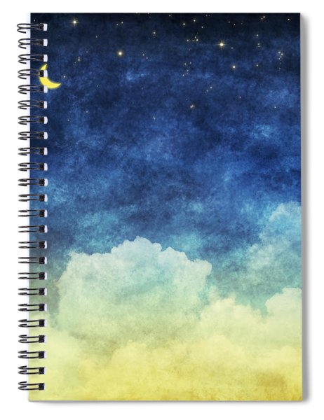 Cloud And Sky At Night Spiral Notebook