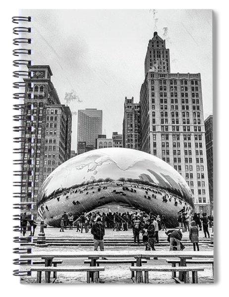 Cloud Gate Bw Spiral Notebook
