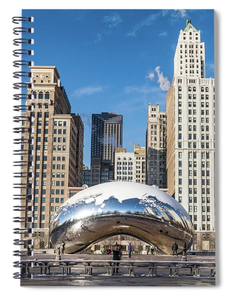 Cloud Gate To Chicago Spiral Notebook