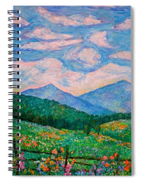 Cloud Swirl Over The Peaks Of Otter Spiral Notebook