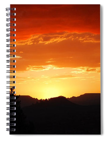 Clouds Afire Spiral Notebook