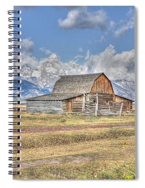 Clouds And Barn Spiral Notebook