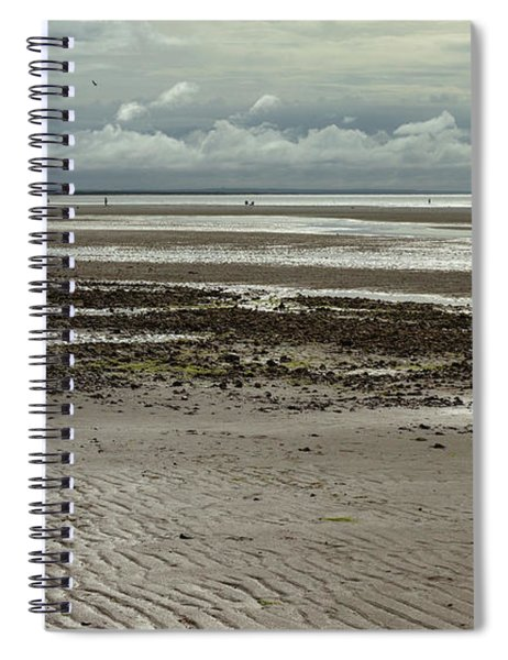 Clouds And Sun At Mayflower Beach Spiral Notebook