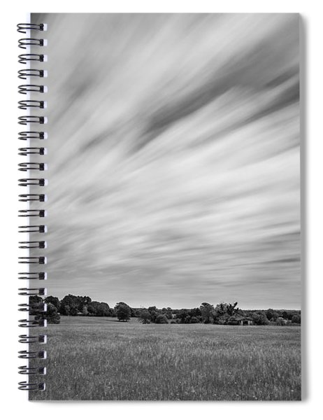Clouds Moving Over East Texas Field Spiral Notebook