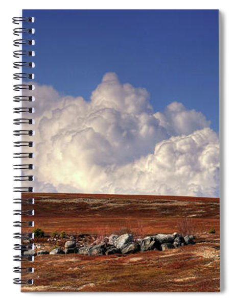 Clouds Over Blueberry Barren Spiral Notebook