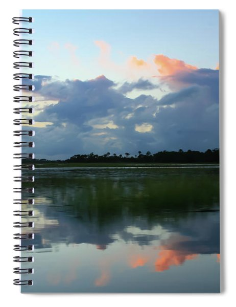 Clouds Over Marsh Spiral Notebook