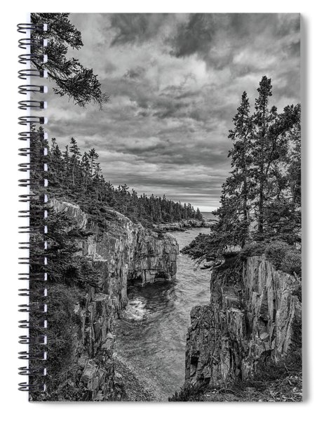 Clouds Over The Cliffs Spiral Notebook