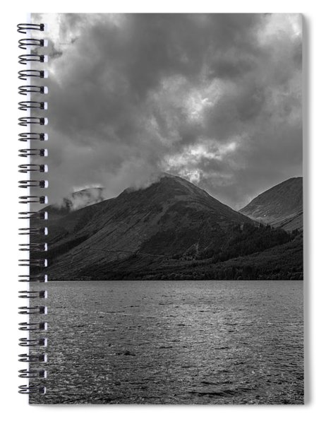 Clouds Over Loch Lochy, Scotland Spiral Notebook