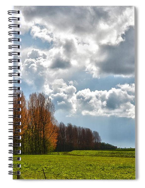 Clouds Over Voorne Spiral Notebook
