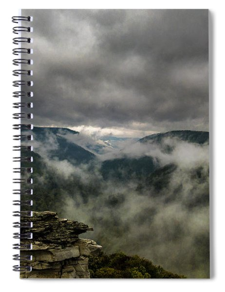 Clouds Rising At Lindy Point Spiral Notebook