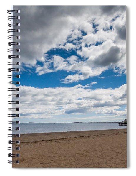 Cloudy Beach Day Spiral Notebook