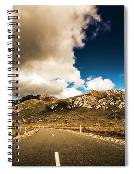 Cloudy Country Road Spiral Notebook