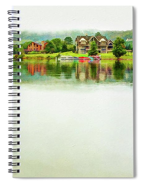 Cloudy Day On The Lake Spiral Notebook