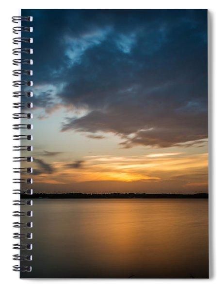 Cloudy Lake Sunset Spiral Notebook