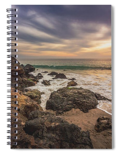 Cloudy Point Dume Sunset Spiral Notebook