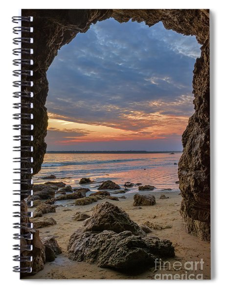 Cloudy Sunset At Low Tide Spiral Notebook