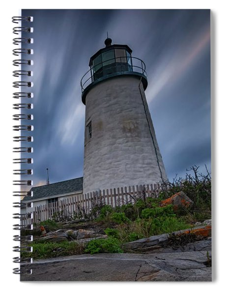 Cloudy Sunset At Pemaquid Point Spiral Notebook
