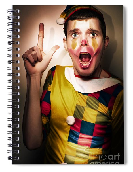 Clown Bank Robber Performing A Copyspace Holdup Spiral Notebook