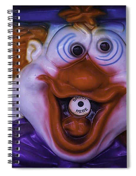 Clown Squirt Game Spiral Notebook
