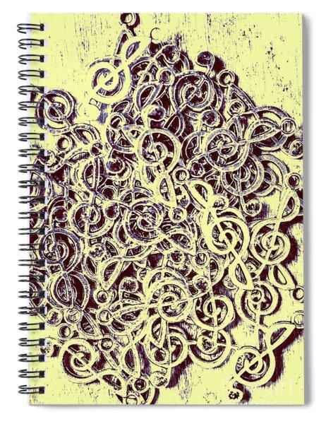 Club Of Clefs Spiral Notebook