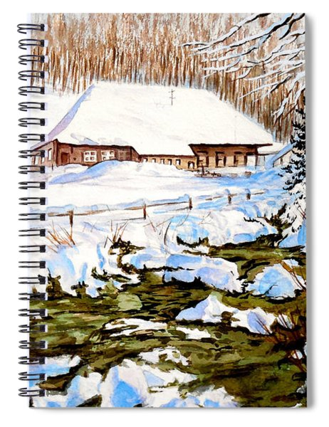 Clubhouse In Winter Spiral Notebook