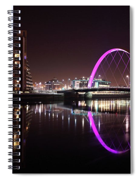 Clyde Arc Night Reflections Spiral Notebook