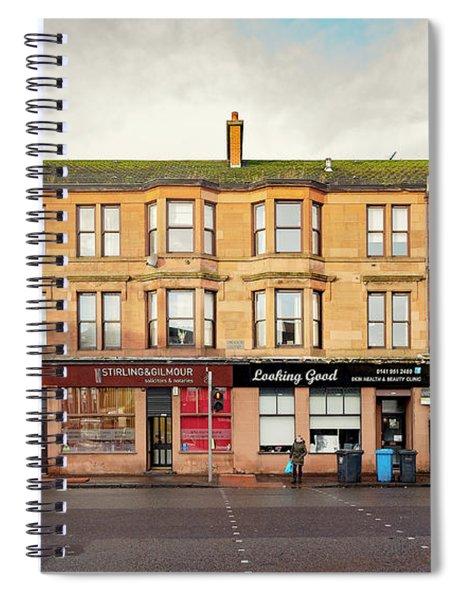 Clydebank Sandstone Tenement Kilbowie Road Spiral Notebook