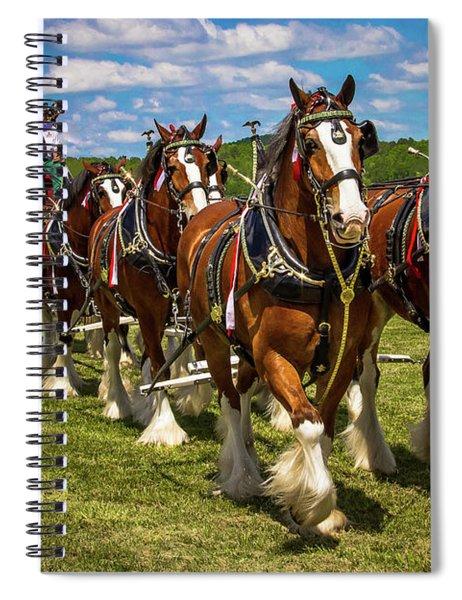 Budweiser Clydesdale Horses Spiral Notebook by Robert L Jackson