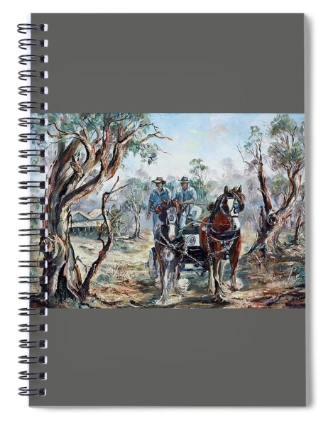 Clydesdales And Cart Spiral Notebook