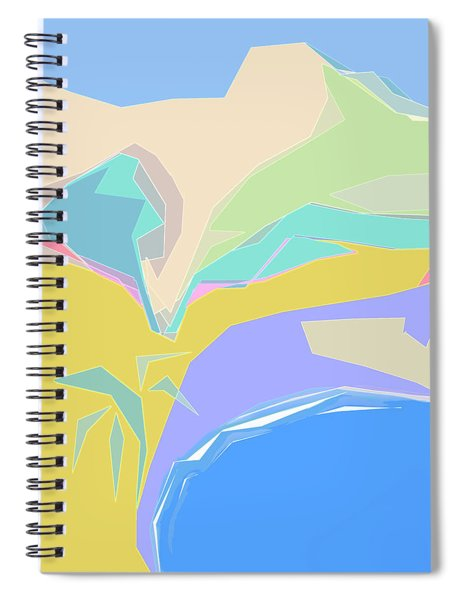 Spiral Notebook featuring the digital art Coast Of Azure by Gina Harrison
