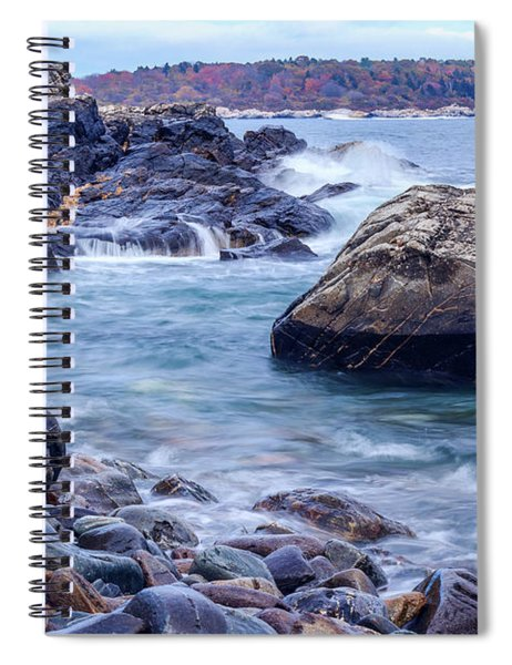 Spiral Notebook featuring the photograph Coast Of Maine In Autumn by Doug Camara
