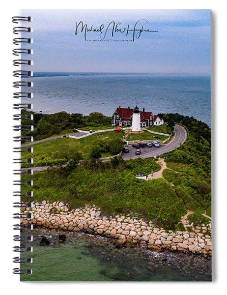 Coastal Nobska Point Lighthouse Spiral Notebook