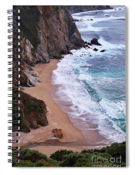 Coastal View At Big Sur Spiral Notebook