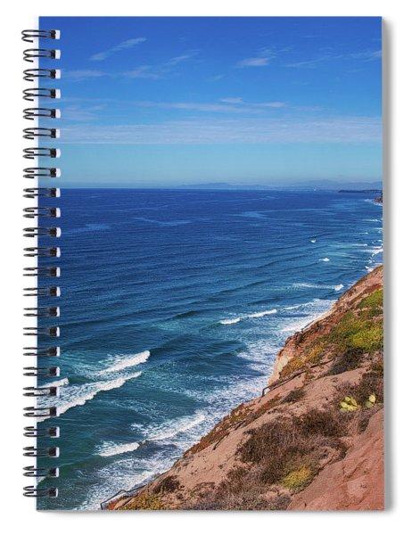 Coastline At Torrey Pines Spiral Notebook