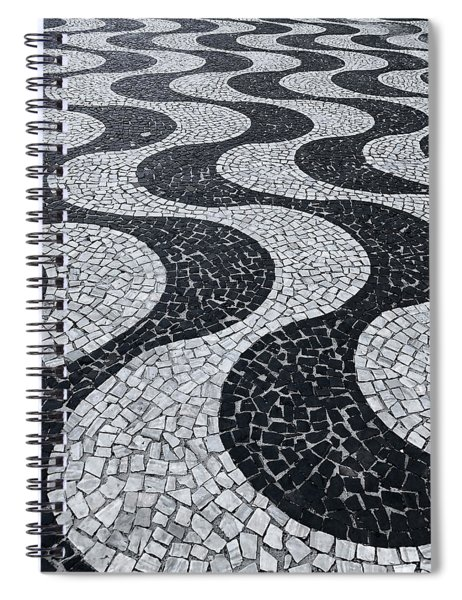 Cobblestone Waves Spiral Notebook