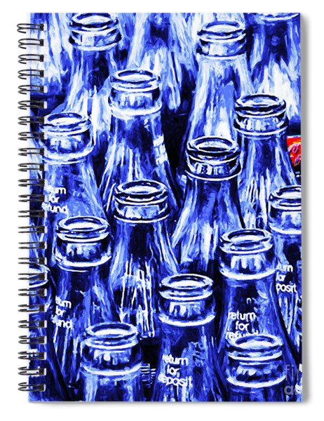 Coca-cola Coke Bottles - Return For Refund - Square - Painterly - Blue Spiral Notebook